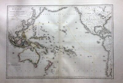 1815 Genuine map of West coast N. and S. America by A.H. Brue