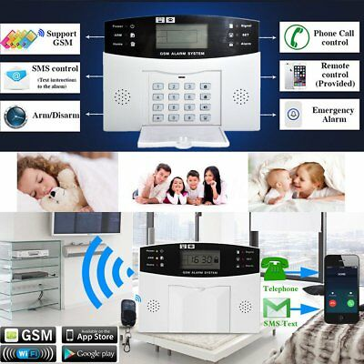 Lcd Wireless Gsm Autodial Sms Home House Office Security Burglar Intruder Alarm