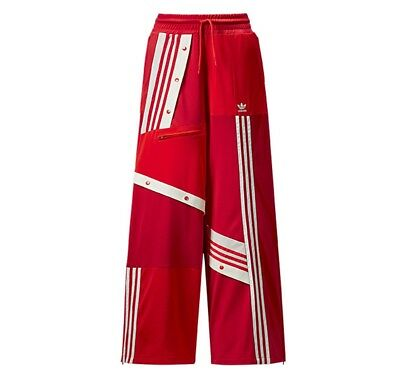 ADIDAS x DANIELLE CATHARI High Rise TRACK Pants size Medium Red