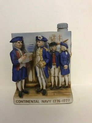 """Vintage -1975 Bicentennial """"Continental Navy 1776-1777 """"-W A Lacey Decanter"""
