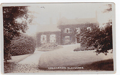 Blakedown Kidderminster Worcs Springbrook Stourbridge Rp Real Photo Pc Postcard