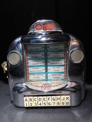 Vintage Seeburg 100 Wall-O-Matic Jukebox Selector Type 3W-1 With Key