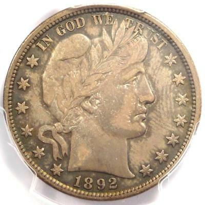 1892 Barber Half Dollar 50C - PCGS XF45 (EF45) - Rare Date - Certified Coin!