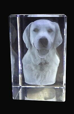 Personalised 3D Laser Engraved Photo In Crystal .,.best Gif