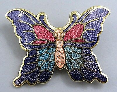 Vintage Jewelry Pastel Purple Pink Butterfly BROOCH PIN Rhinestone Lot M