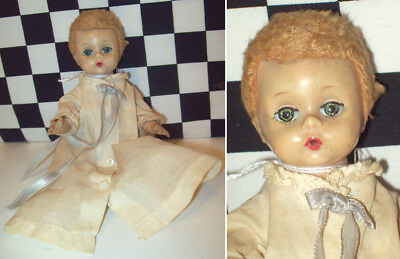 "6"" Madame Alexander Little Genius - Tagged Dress - Sleep Eyes Mohair Wig Dirty~"
