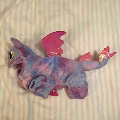 Xx Small Pet Halloween Dragon Outfit Costume Pink Purple  Puppy Dog Kitten Cat
