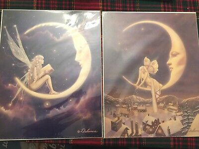 Two 11x14 inch Fairy Art posters by David Delamare No 32, 43 *New* Free shipping