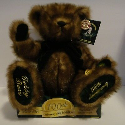 100th Anniversary Teddy Bear, Collector's Edition, Talking Bear, 2002, **NEW**