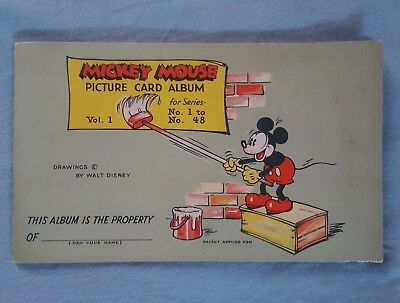 vintage antique 1930s Disney Mickey mouse gum card album