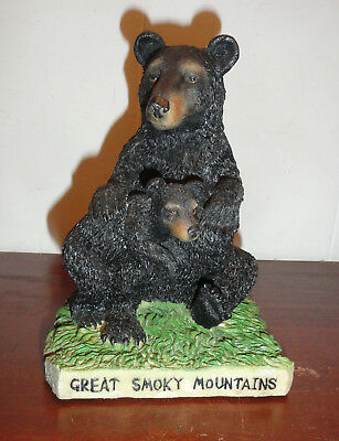 "Vintage Bank ""Great Smoky Mountains"" Mama Bear and Cub Bank"