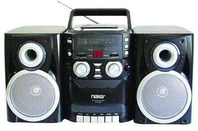 NPB-426 Naxa Portable AM FM CD AUX Cassette