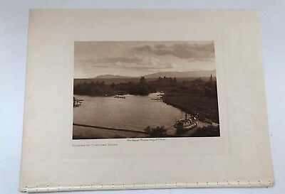Edward S Curtis Photogravure Looking Up Cowichan River 1st Edition 1912
