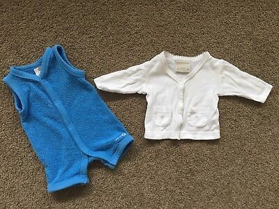 Baby Size 00000 Target Blue Suit And Little Marquise White Blouse