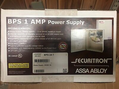 BPS 1AMP Power Supply Securitron Assa Abloy BPS-24-1 AssaAbloy Control Panel