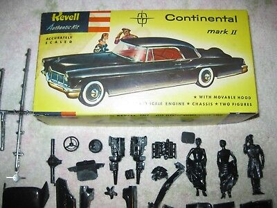Vintage Revell 1956 Lincoln Continental 1/32 Scale Model Kit H-1209 ORIGINAL