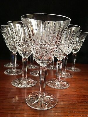 "9 Waterford Crystal Water Goblets - 6 7/8"" High & 3 3/4"" Wide"