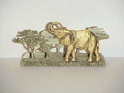 Fort Pewter - Letter / Card Holder - Elephant with Trees