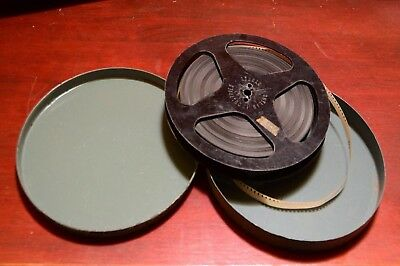 8mm film reel in metal can - circa 1950 - A