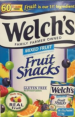 Welch's Fruit Snacks Mixed Fruit 60 Pouches 1.5kg