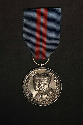 1911 King George V and Queen Mary Silver Coronation Medal - Free Shipping USA