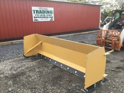NEW 2018 Kit Container 9ft Skid Steer Loader Snow Pusher Attachment NO RESERVE