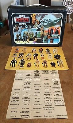 Vintage 1980 Star Wars Kenner Empire Strikes Back Case With Inserts Lucasfilm