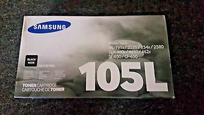 GENUINE SAMSUNG MLT-D105L Black High Yield Toner Cartridge Brand New Sealed OEM