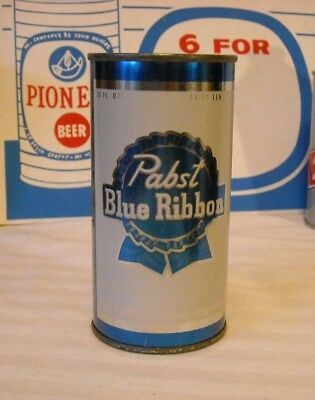 Pabst Blue Ribbon 10 Oz. Flat Top Beer Can