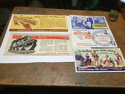 Vintage Railroad Advertising Blotters And Railroad Hour Show Train Blotters