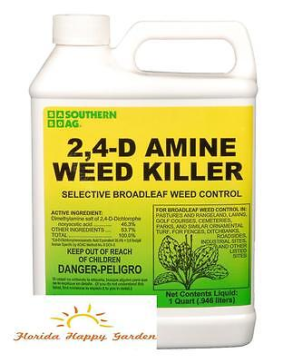 2,4-D Amine Weed Killer Herbicide QT 32oz! Souther Ag.