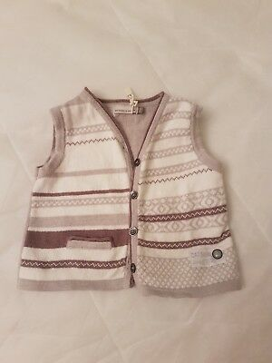 baby boy catimini designer vest. beige and white. as new 3 month