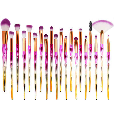 20Pcs Kabuki Unicorn Makeup Brushes Set Foundation Blush Powder Brush Kit Tools