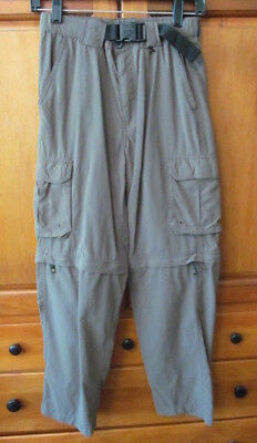 BOY SCOUTS OF AMERICA Green Switchback Uniform Pants Youth X-LARGE Convertible