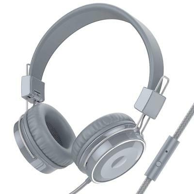 Over-Ear Headphones Wired Stereo Folding Heavy Bass Earphones with Microphone
