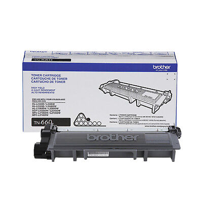 Brother Genuine TN660 High Yield Black Toner Cartridge - Free Shipping
