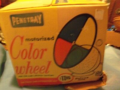 Vintage Penetray  Motorized Color Wheel For Aluminum  Christmas Tree In Box - Co