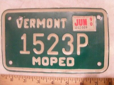 Vermont Green Mountain State MOPED License Plate