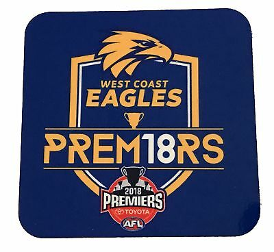 West Coast Eagles AFL Premiers 2018 Coaster