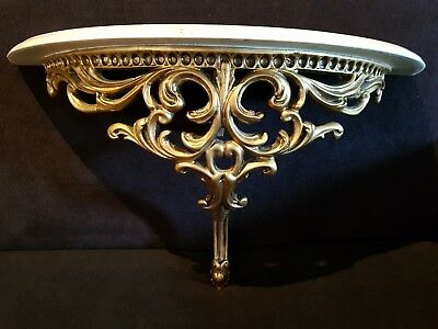 Ornate French Marble Style Hall table Shelf Console