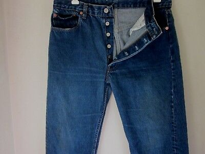 Vintage Levis 501 Made in the USA Blue Jeans Mens tag 36 x 33 now 33x29 stf