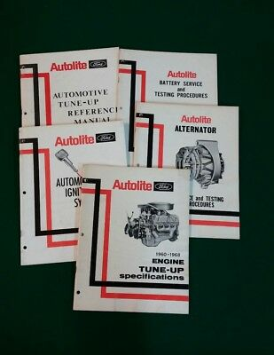 Vintage Autolite Ford Service Manuals 1960's Lot of 5