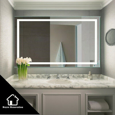 Rectangle Bluetooth Speaker LED Mirror Bathroom Wall hung Touch switch 900/1200
