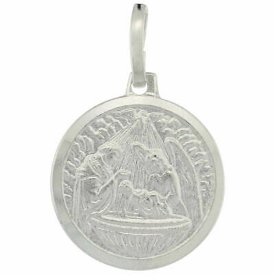Sterling Silver St Charm Edward The Confessor Oval-shaped Medal Pendant