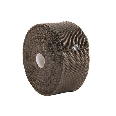"""Titanium Exhaust/Header Heat Wrap 1/16 in.×2"""" x 30m Roll With Stainless Ties Kit"""