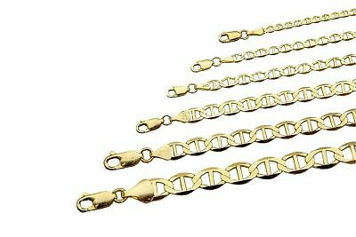 "10k Solid Yellow Gold Mariner Link Chain Necklace 1.5-6mm Men's Women Sz 16""-36"""