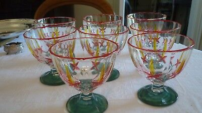 8 verres anciens de murano 8 old glasses of Murano