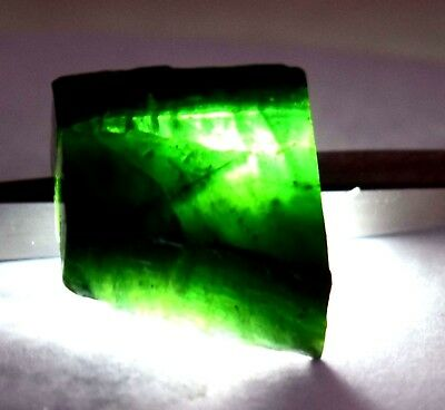 158  Ct Nice Natural Translucent Green Serpentine Earth Mined Slab Rough