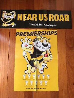 2018 Richmond Tigers Afl Finals  Premiership Glossy Poster + Banner - Herald Sun