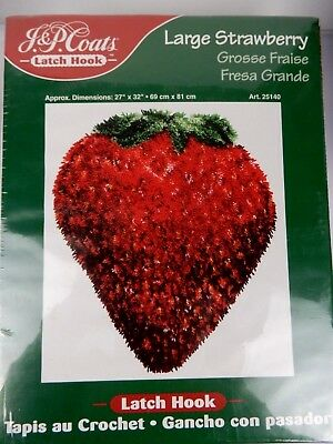 J.& P. Coats Latch Hook Large Strawberry 69cm x 81cm (approx) #25140